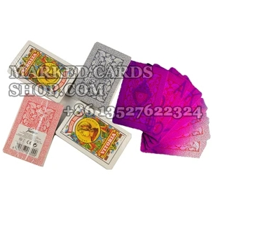 marked cards with luminous markings